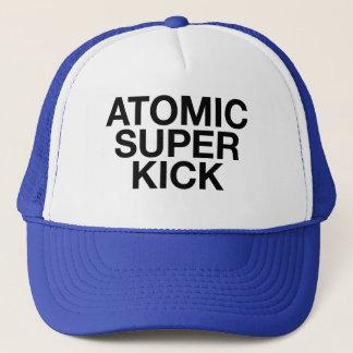 ATOMIC SUPER KICK fun slogan trucker hat