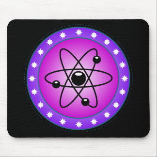 Atomic Symbol on a Pink background Mouse Pad