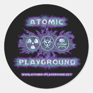Atomic Symbols Classic Round Sticker