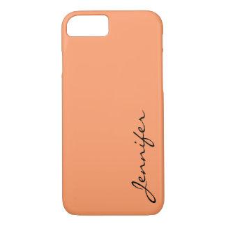 Atomic tangerine color background iPhone 7 case
