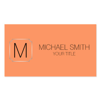 Atomic tangerine color background pack of standard business cards