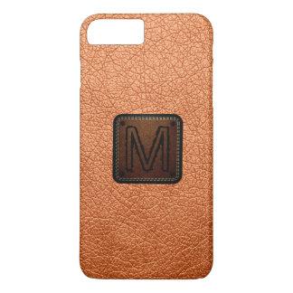 Atomic tangerine Leather Look Monogram iPhone 7 Plus Case