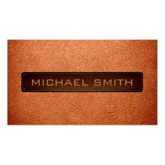 Atomic tangerine Leather Look Professional Pack Of Standard Business Cards
