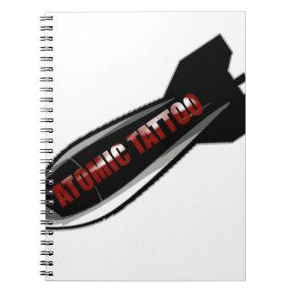 Atomic Tattoo Bomb Notebooks