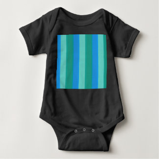 Atomic Teal & Turquoise Stripes Baby Bodysuit