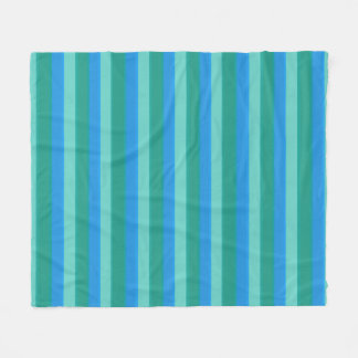 Atomic Teal & Turquoise Stripes Bath Set Fleece Blanket