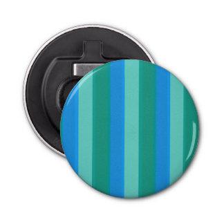 Atomic Teal & Turquoise Stripes Bottle Opener