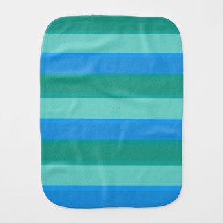 Atomic Teal & Turquoise Stripes Burp Cloth