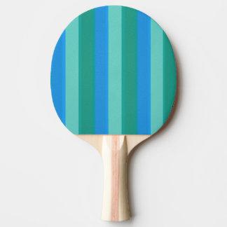 Atomic Teal & Turquoise Stripes Ping Pong Paddle