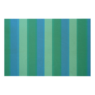 Atomic Teal & Turquoise Stripes Wood Wall Art