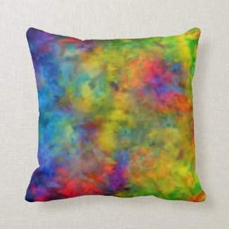 [Atomic Tie-Dye]  Psychedelic Rainbow Colours Cushion