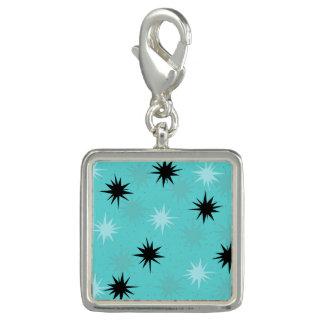 Atomic Turquoise Starbursts Charm