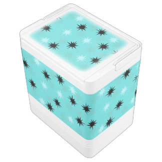 Atomic Turquoise Starbursts Igloo Can Cooler Igloo Cool Box