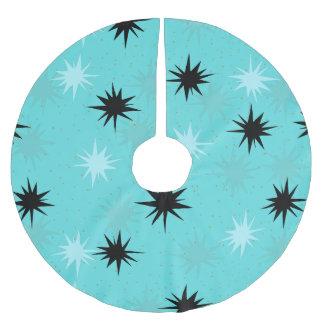 Atomic Turquoise Starbursts Tree Skirt