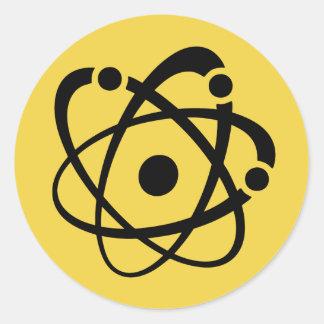Atomic Wonk Round Sticker