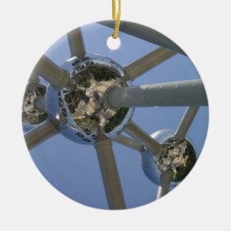 Atomium Brussel Round Ceramic Decoration