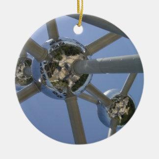 Atomium, Brussels, Belgium Round Ceramic Decoration