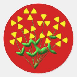Atomkraft nuclear power Blumen plants flowers Aufkleber