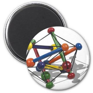 AtomModel012511 6 Cm Round Magnet