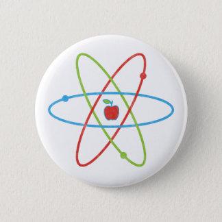 Atoms Apple 6 Cm Round Badge