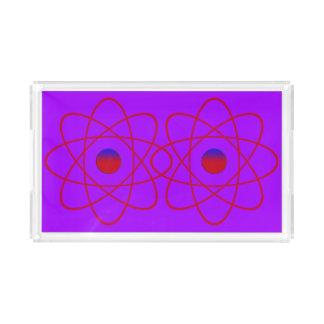 Atoms Small Rectangle Tray,Purple Acrylic Tray