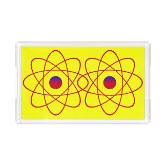 Atoms Small Rectangle Tray,Yellow Acrylic Tray