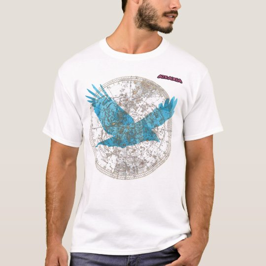 Atraxia T Shirt with starmap and bird