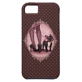 Attached to my French Bulldog iPhone 5 Cover