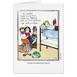 ATTACHMENT cartoon by Ellen Elliott Greeting Card