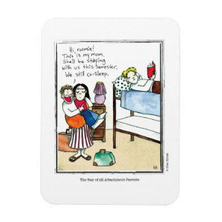 ATTACHMENT cartoon by Ellen Elliott Rectangular Photo Magnet