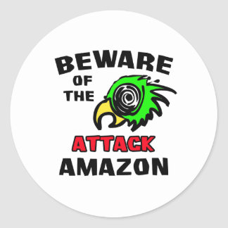 Attack Amazon Round Sticker