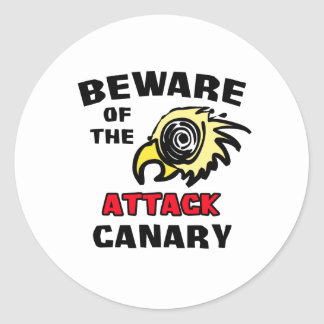 Attack Canary Round Sticker