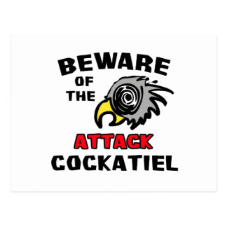 Attack Cockatiel Postcard