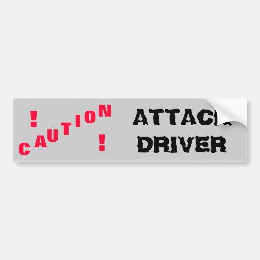Attack Driver Bumper Stickers