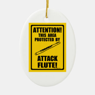 Attack Flute Ceramic Oval Decoration