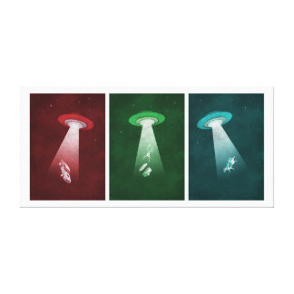 Attack from Mars - Alien abduction Canvas Print