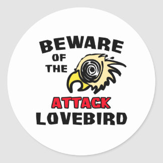 Attack Lovebird Round Sticker