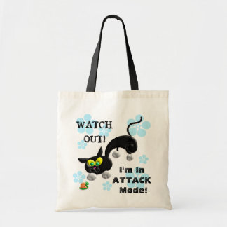Attack Mode Cat Budget Tote Bag