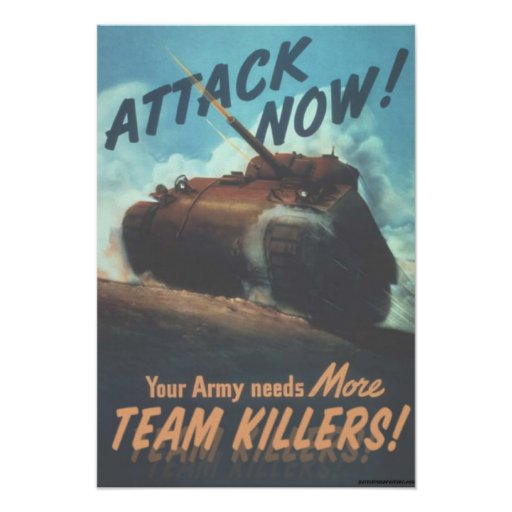 Attack now! poster
