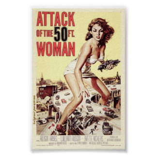 Attack of the 50 Foot Woman (1958) Poster