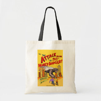 Attack of the 50ft Honey Badger!  Budget tote bag
