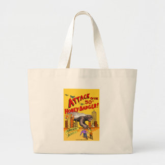 Attack of the 50ft Honey Badger!  Wrapping paper Large Tote Bag