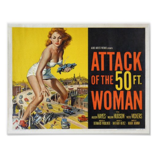 Attack of the 50ft Woman Poster