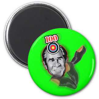 Attack of the flying shoe-Throw Shoe @ George Bush 6 Cm Round Magnet