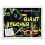 """""""Attack of the Giant Leeches"""" Poster"""