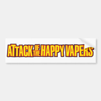 Attack of the Happy Vapers Bumper Sticker