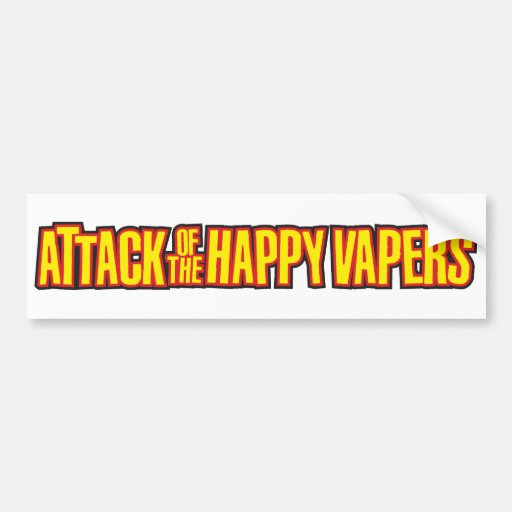 Attack of the Happy Vapers Bumper Stickers