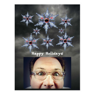 Attack of the Snowflake Zombies Holidays Postcard