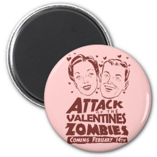 Attack of the Valentines Zombies 6 Cm Round Magnet
