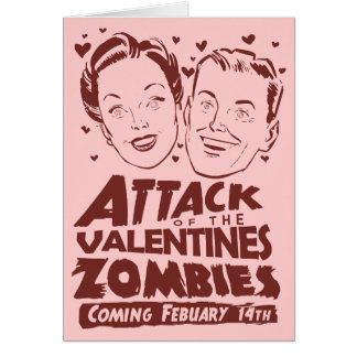 Attack of the Valentines Zombies Card